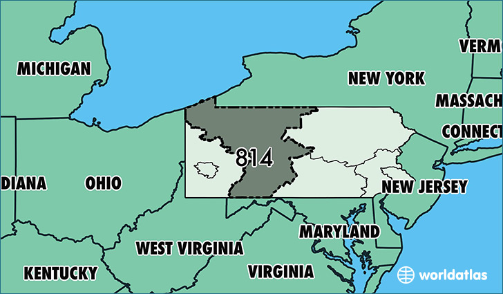 Map of Pennsylvania and Surrounding States