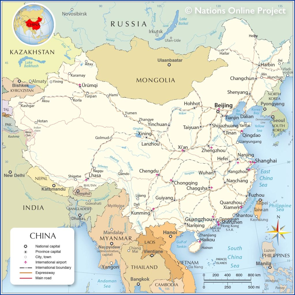 Political Map of China