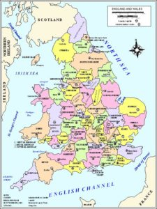 Political Map of England