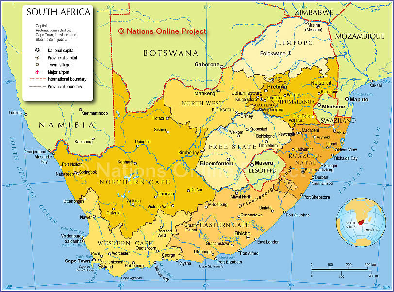 Political Map of South Africa