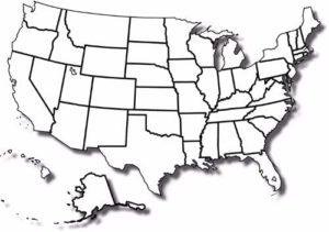 Printable Blank Map of USA