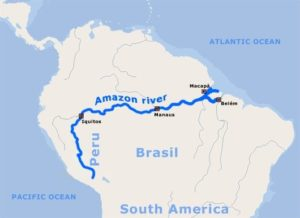 Amazon River in World Map
