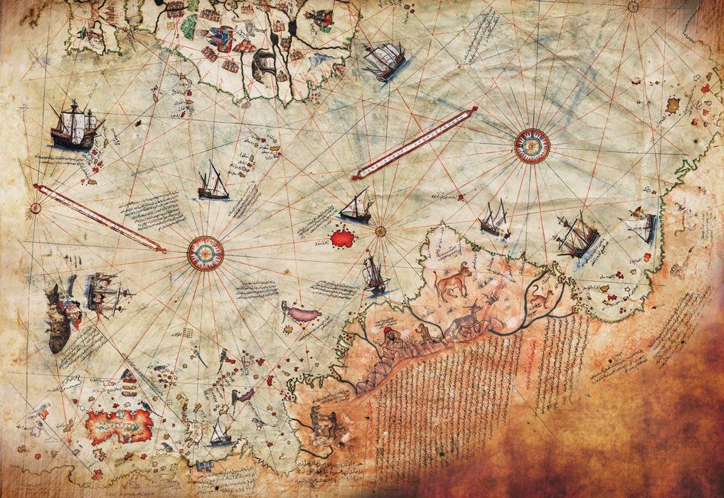 ancient map of antarctica