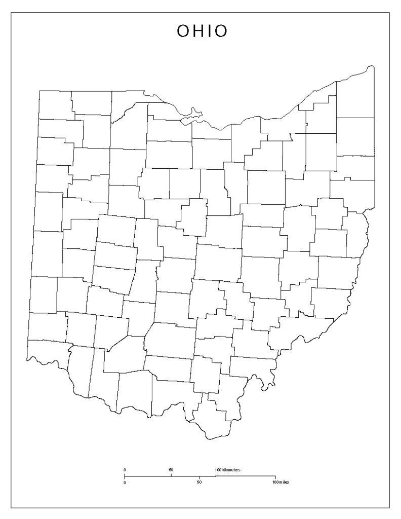 Blank Map of Ohio