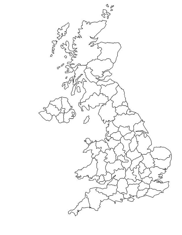 Outline Map of England