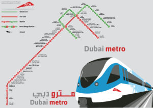 Metro Map of Dubai City
