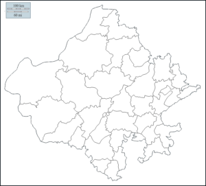 Outline Map of Rajasthan PDF