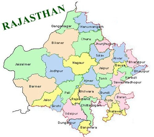 Map of Rajasthan PDF
