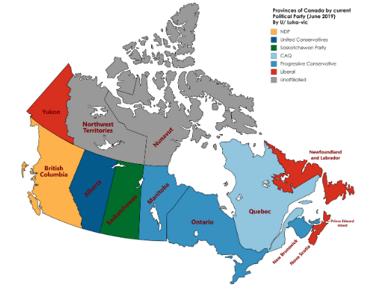 Political Map of Canada Cities