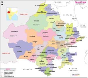 Printable Map of Rajasthan