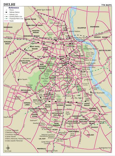 Road Map of Delhi & Cities