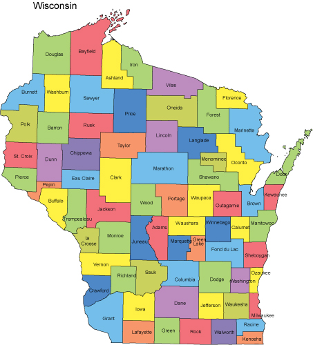 Map of Wisconsin Cities PDF