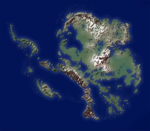 Map of Antarctica without Ice