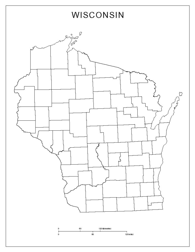 Blank Wisconsin Map Outline