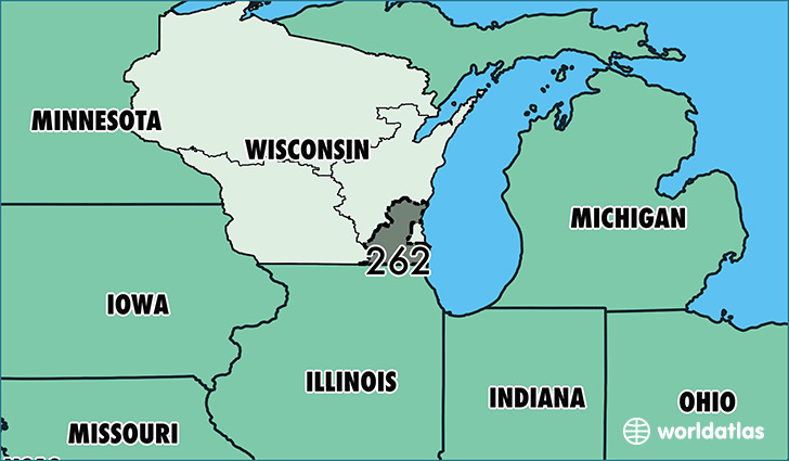 Map of Wisconsin and Surrounding States