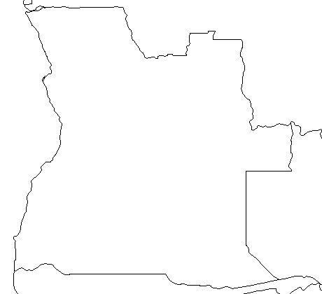Angola Map Outline