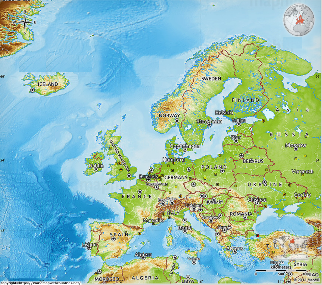 Map of Europe 6