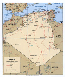 Algeria Map with States