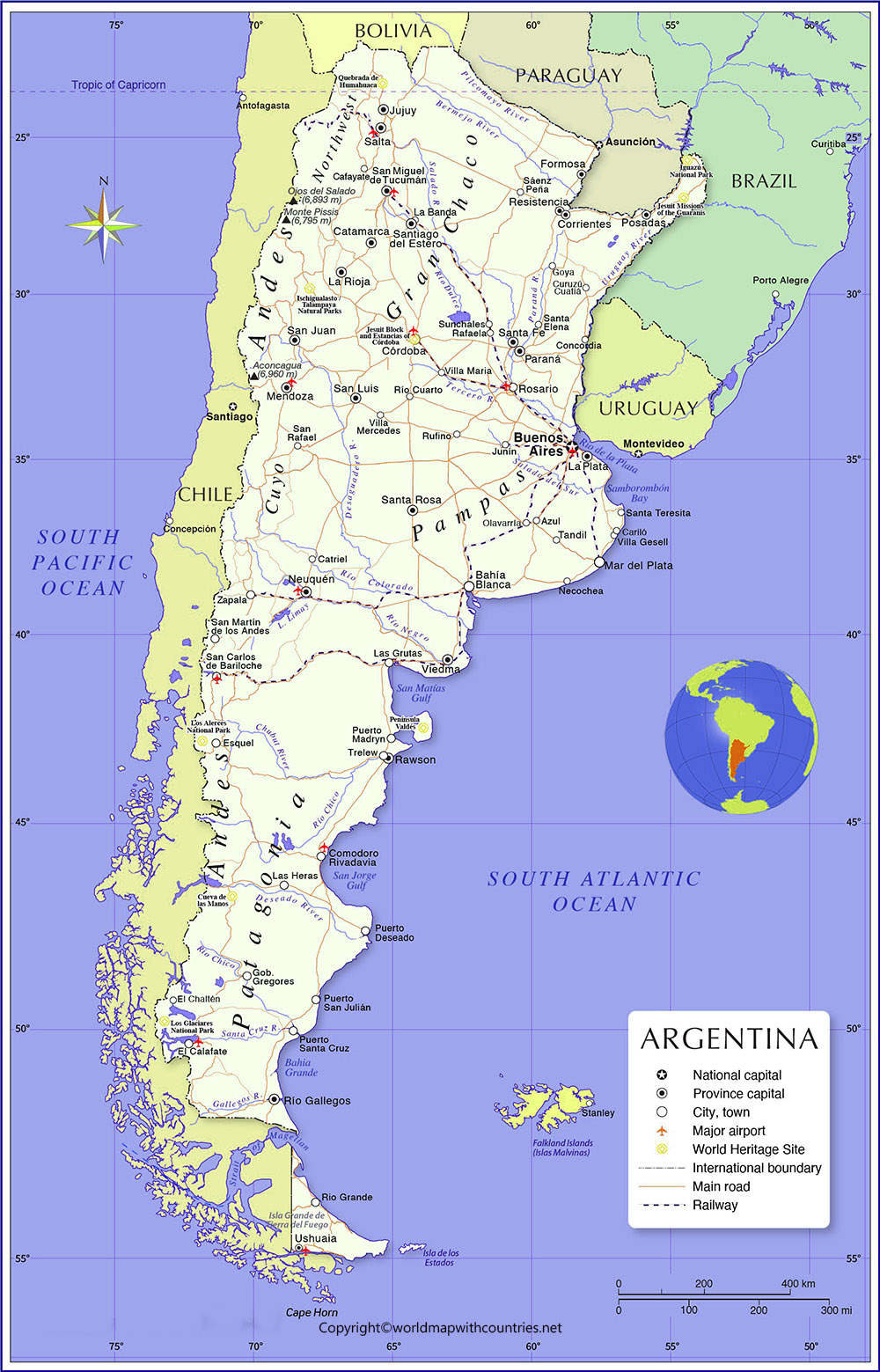 Argentina Map with States
