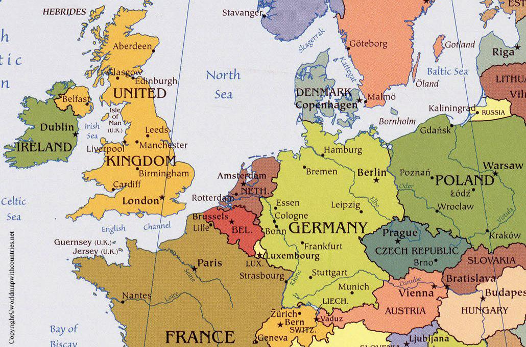 Belgium Map with States