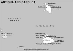 Blank Map of Antigua and Barbuda