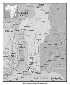 Blank Map of Benin