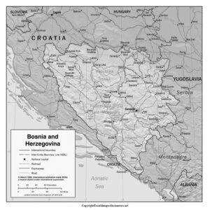 Blank Map of Bosnia and Herzegovina