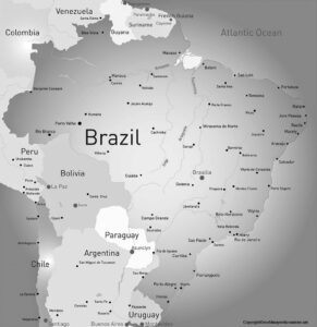 Blank Map Of Brazil