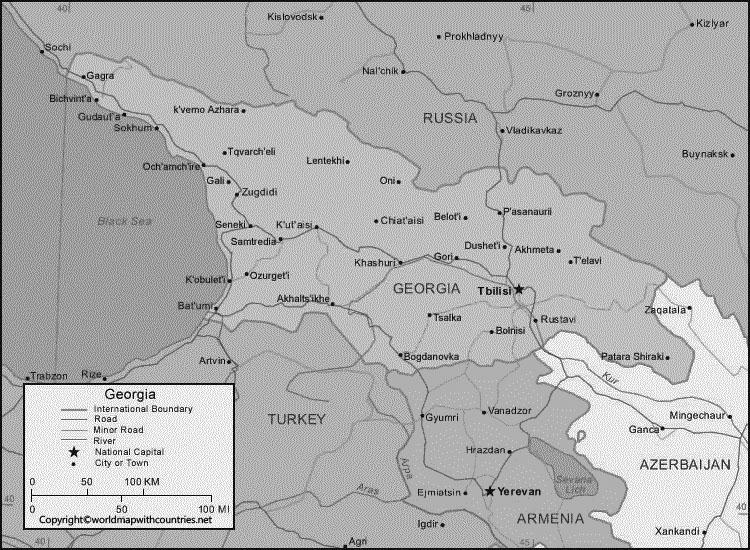 Blank Map of Georgia