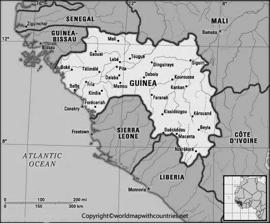 Blank Map of Guinea