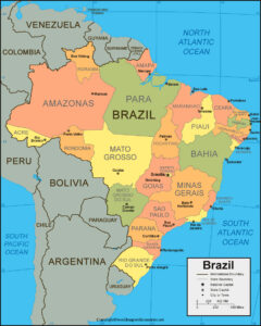 Brazil Map With States