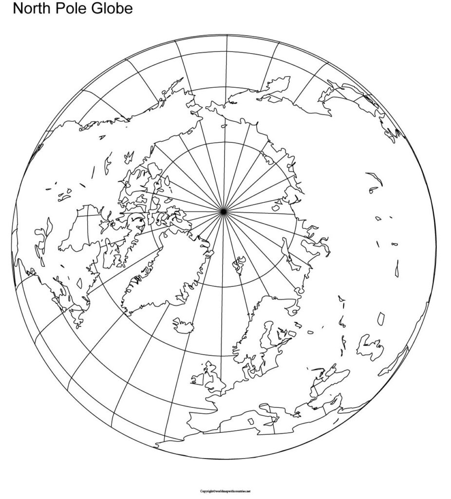 Free World Map With North Pole