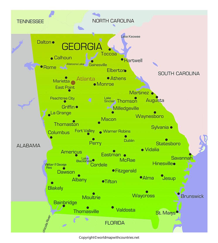 Georgia Map with States