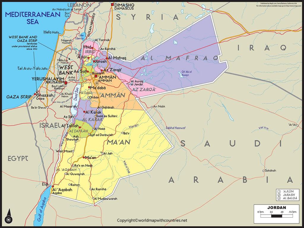 Jordan Map with States