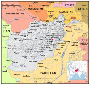Labeled Map of Afghanistan