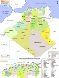 Labeled Map of Algeria