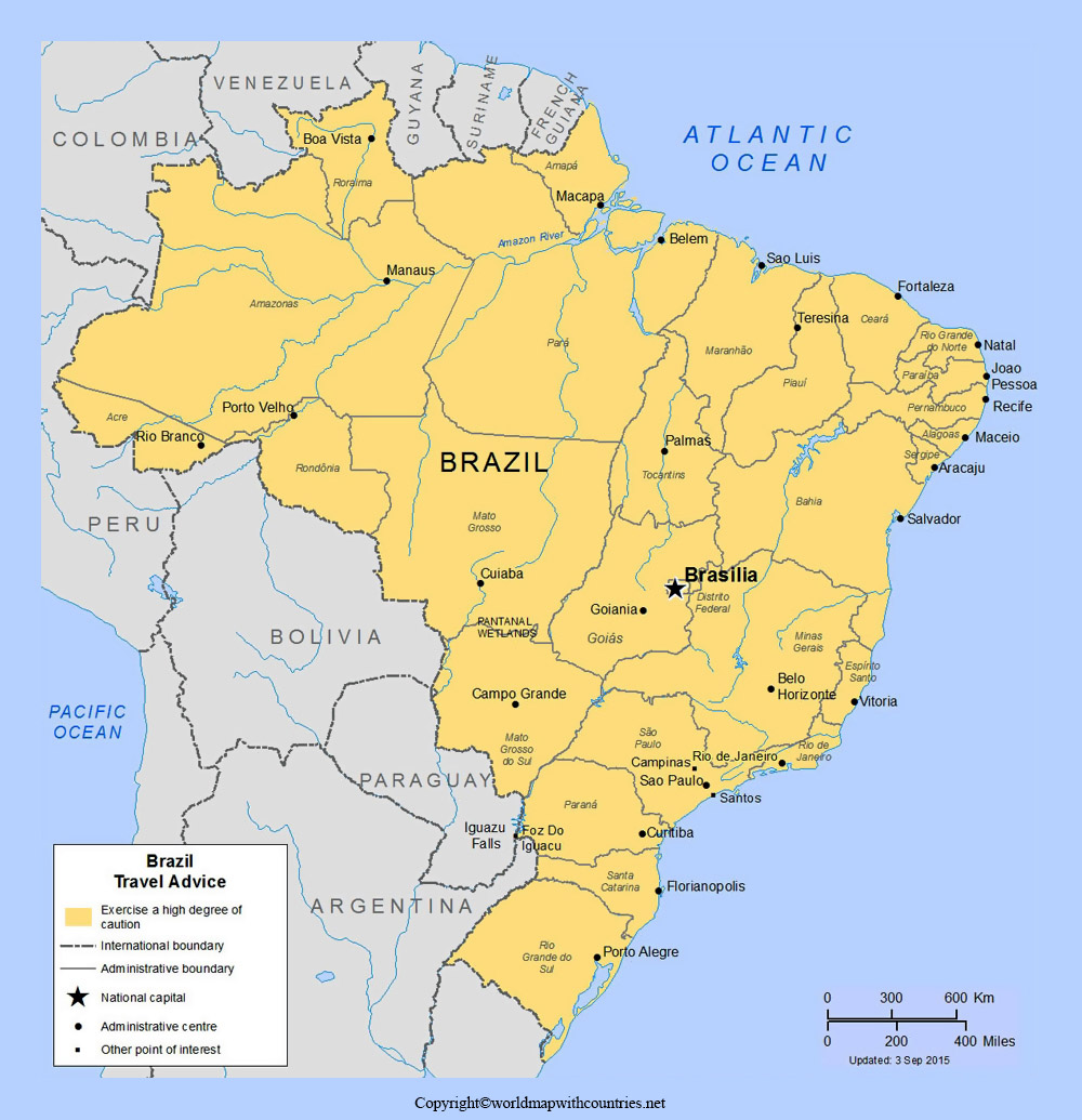 Labeled Map of Brazil