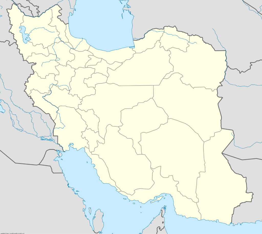 Blank Map Of Iran Outline