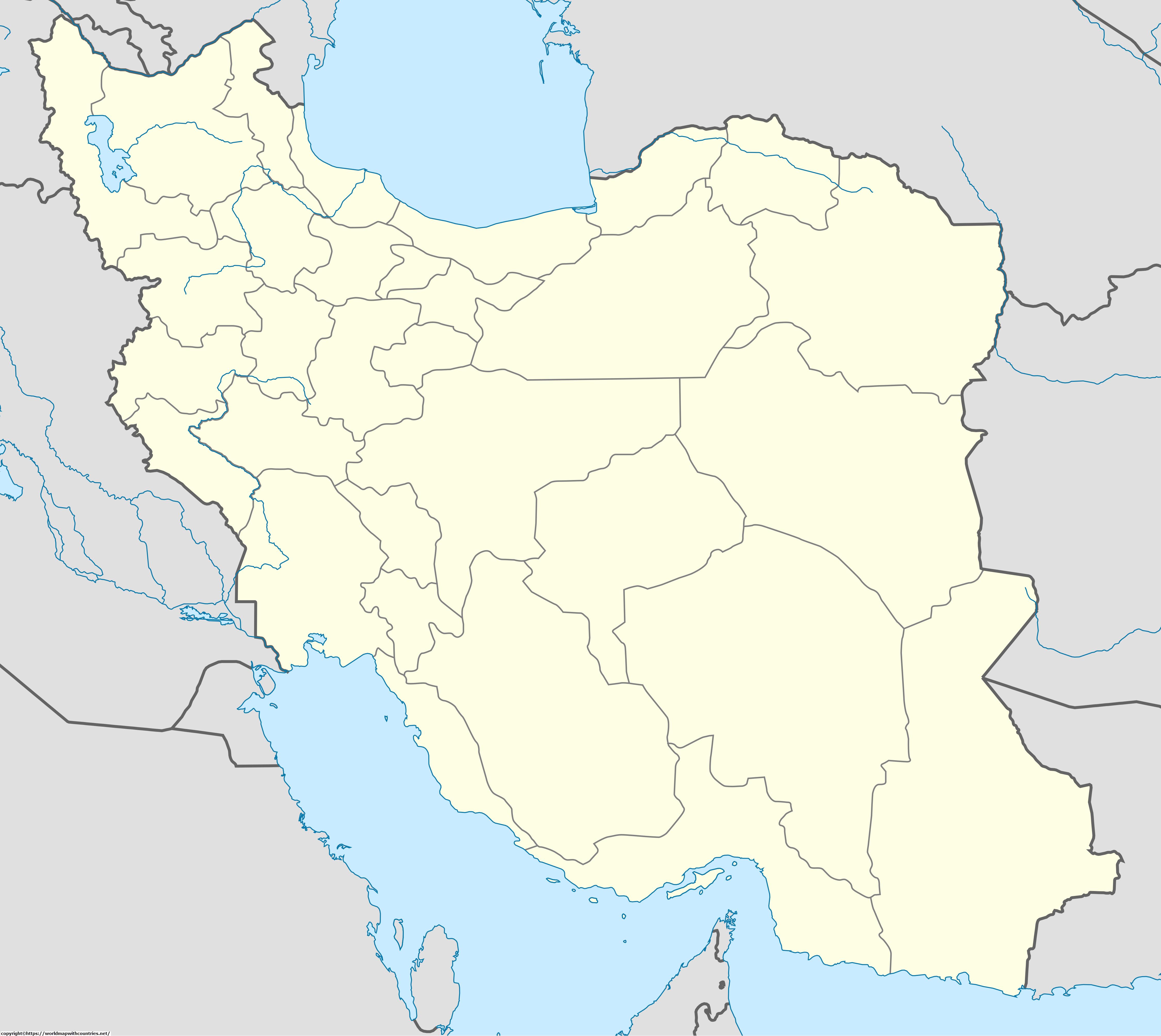Map of Iran 1