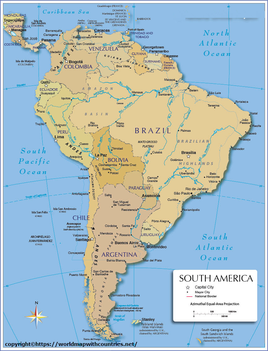 Map of south america 8