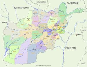 Printable Map of Afghanistan