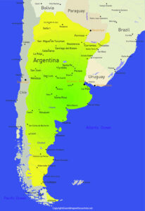Printable Map of Argentina