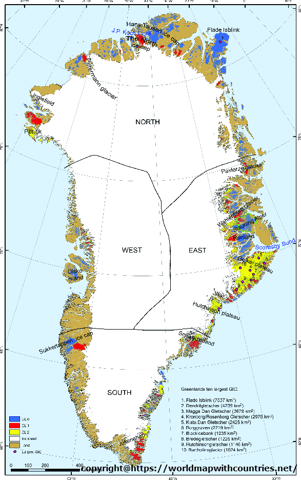 Blank Map Of Greenland Outline