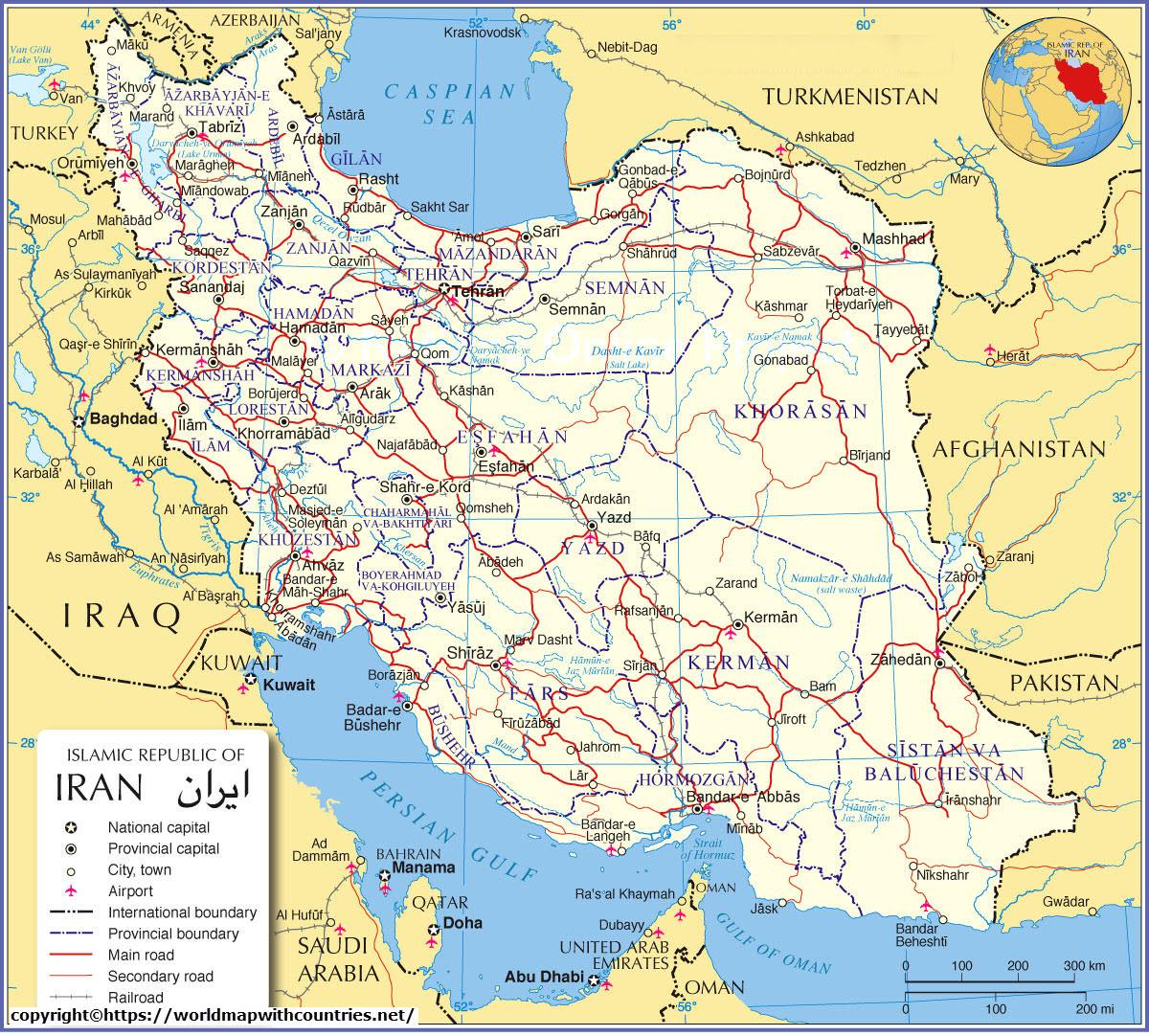 map of iran 3