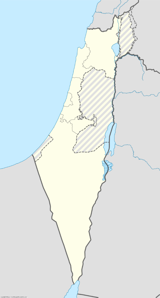 Blank Map Of Israel Outline