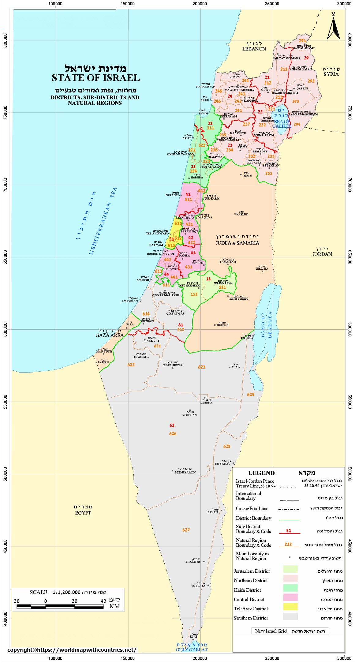 map of israel 4