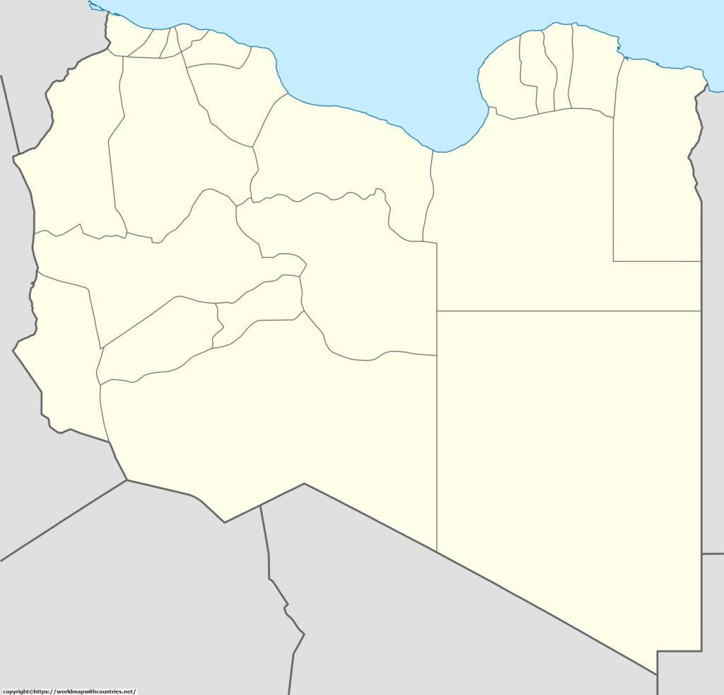Blank Map Of Libya Outline