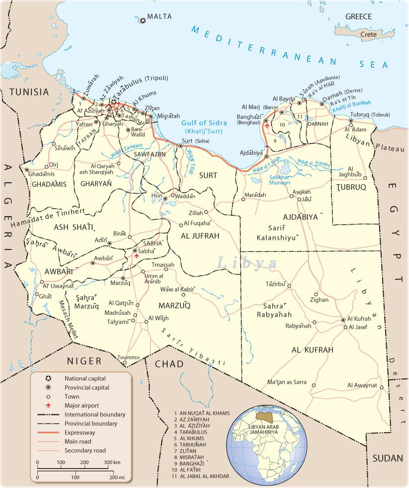 map of libya 3