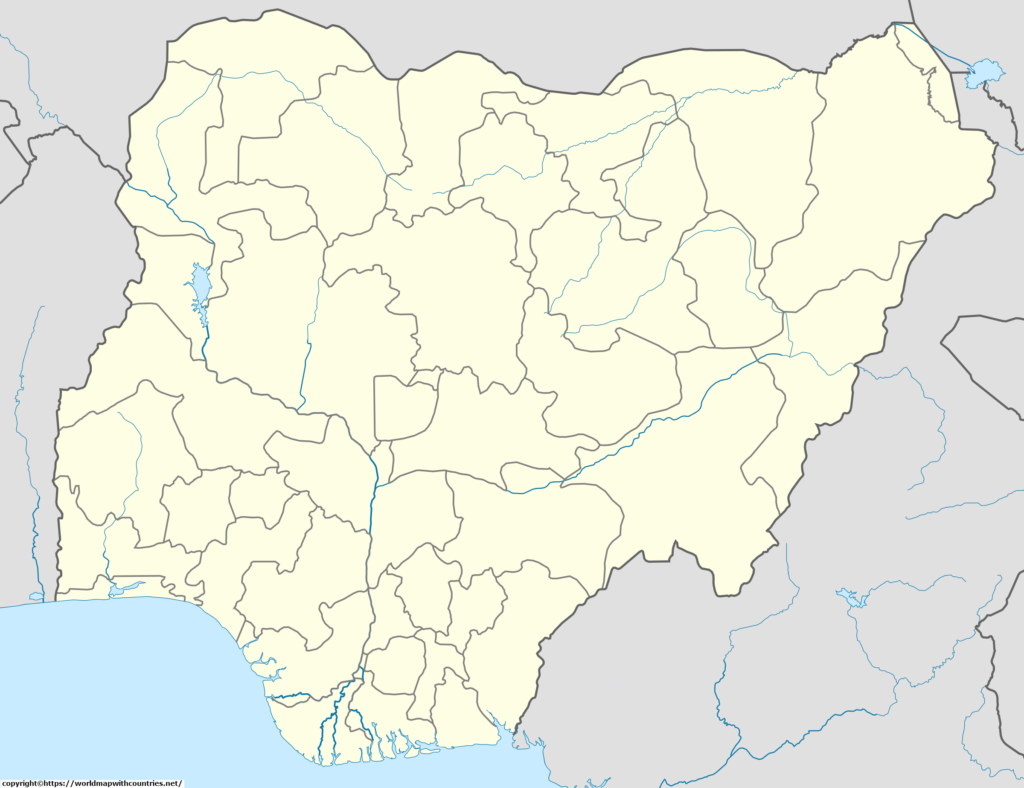 Blank Map Of Nigeria Outline