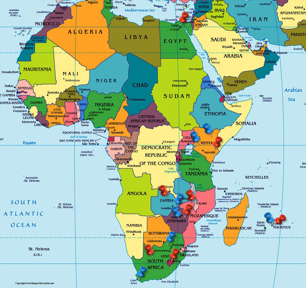 Political Africa Map with Countries